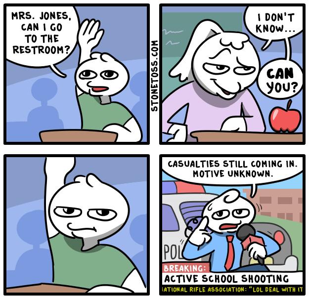 How school shooting started - meme