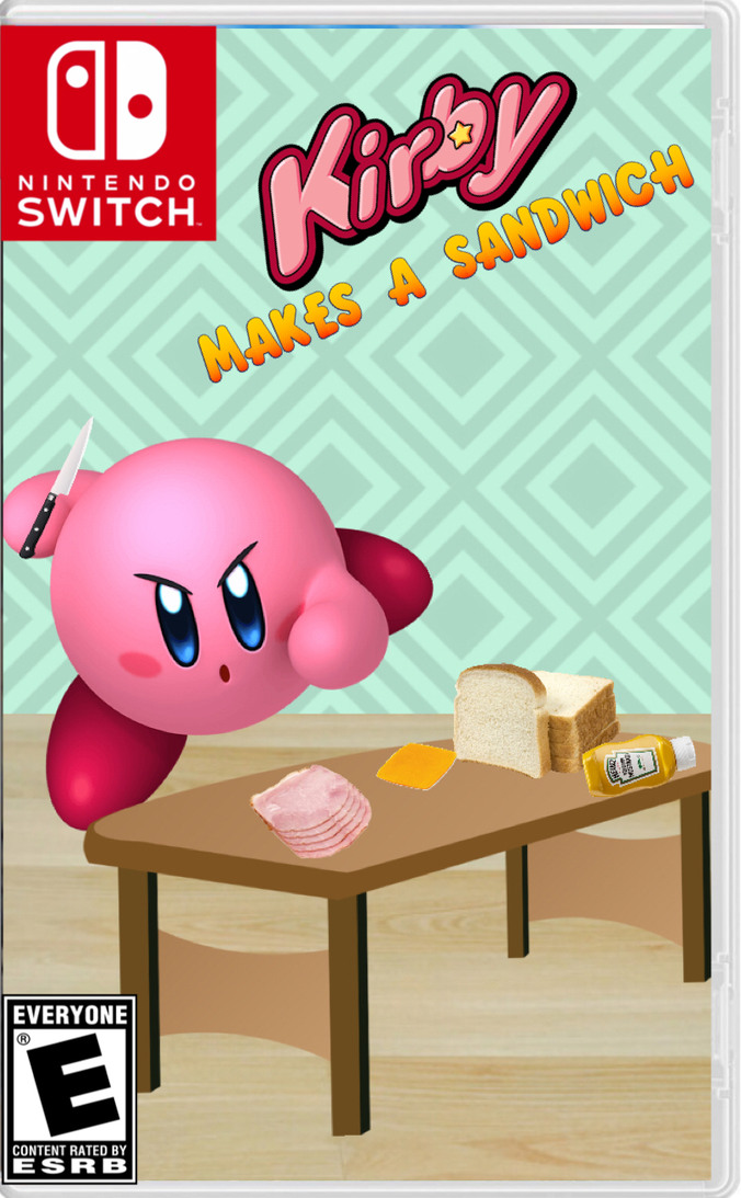 Kirby's old sandwich wasn't a sandwich - meme