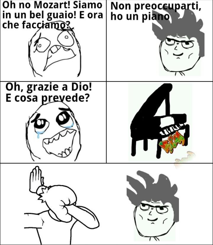 Mozart e i suoi piani xD - meme