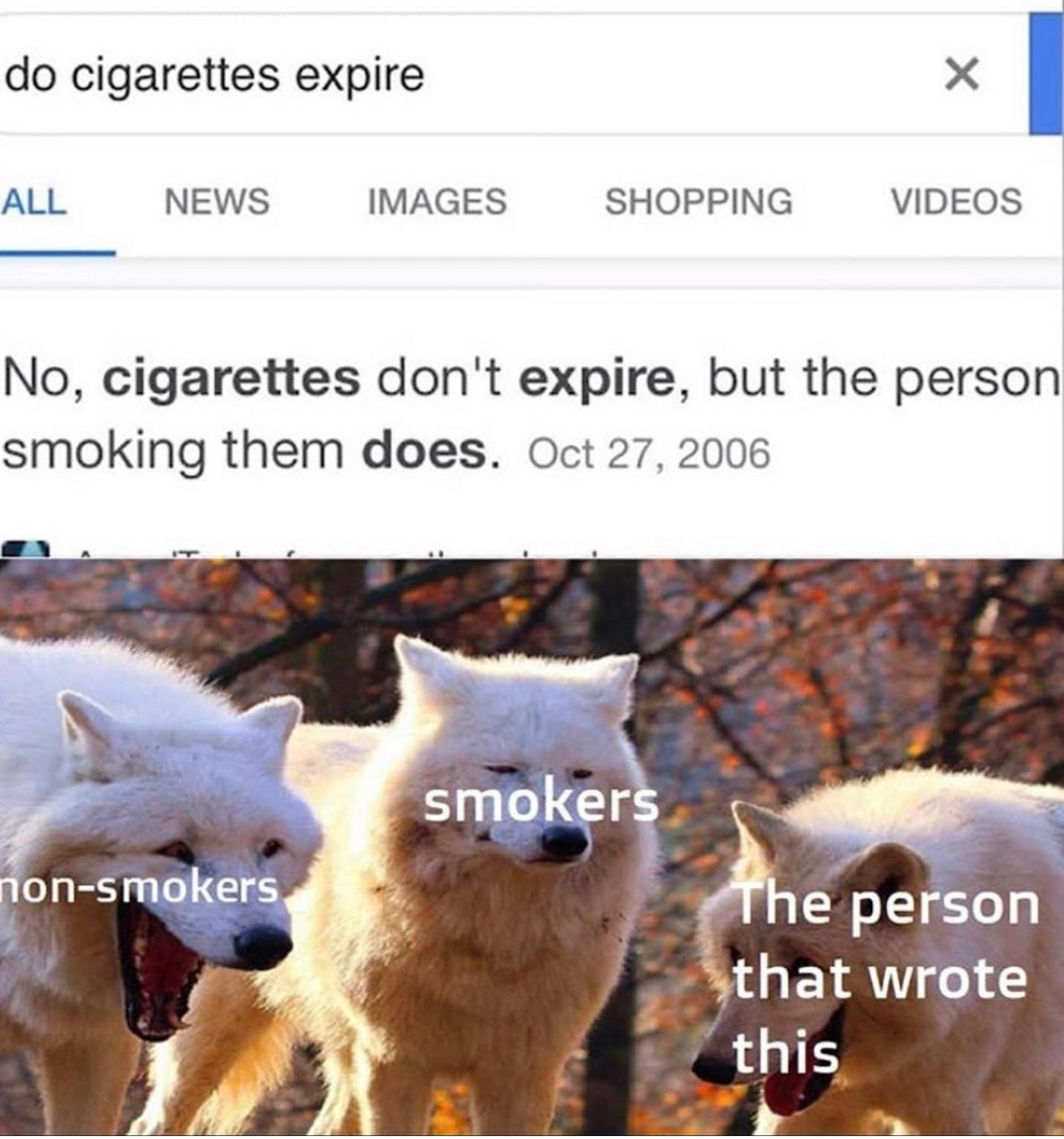 Chain Smoking - meme