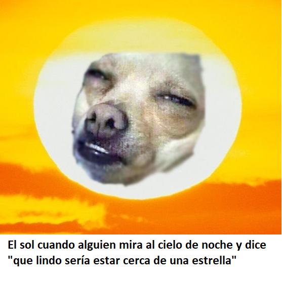 El sol se enoja - meme