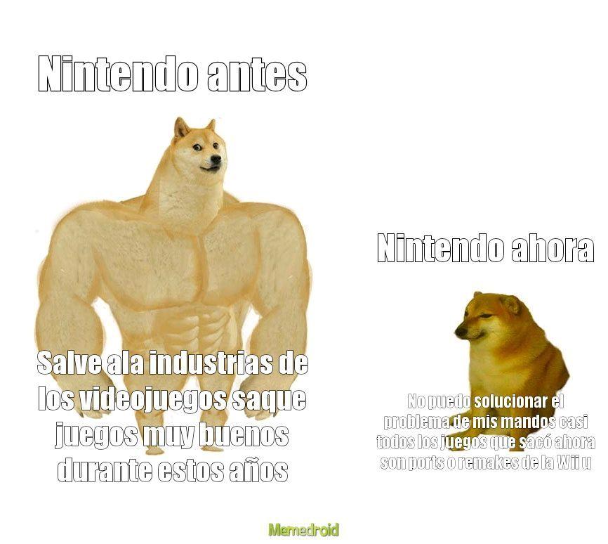 Nintendo arregla el problema y saca juegos exclusivos más seguido - meme