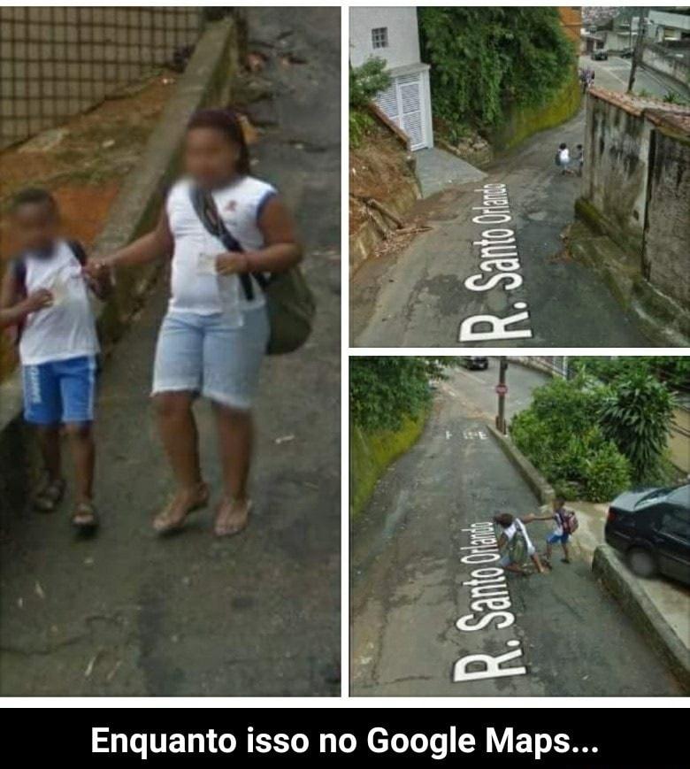 No Google Maps tem minha vó voltando da Padaria - meme