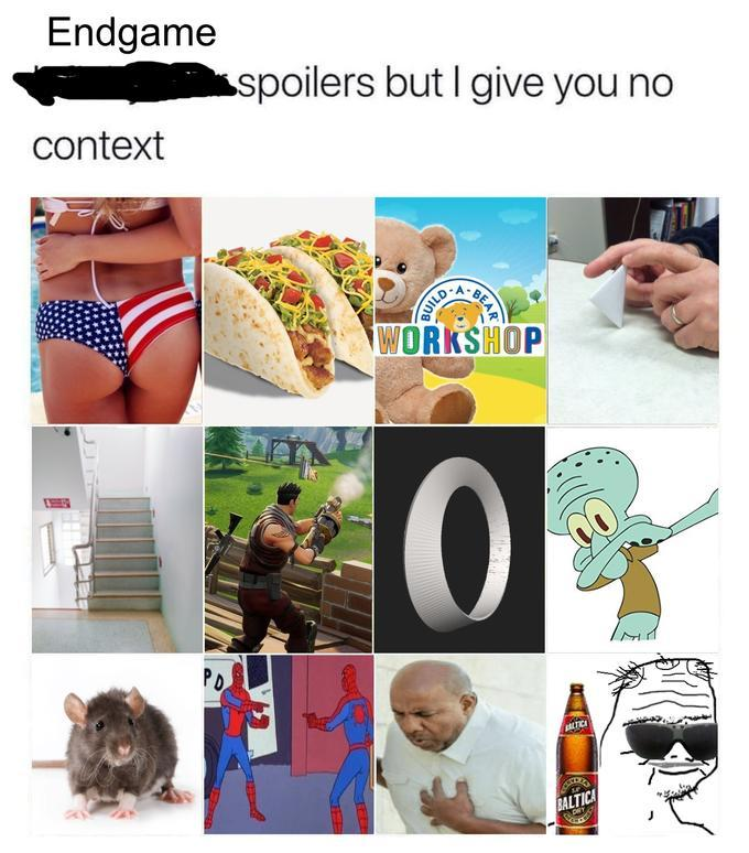 Spoilers without context - meme