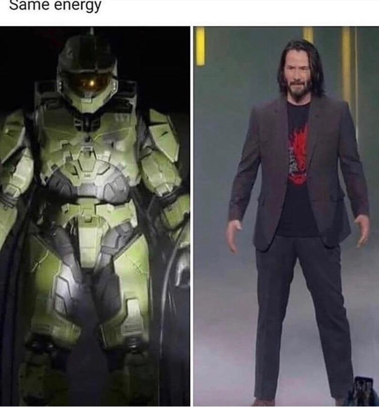 Keanu Reeves = Master Chief - meme