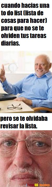 to do list, que gringous suena eso - meme