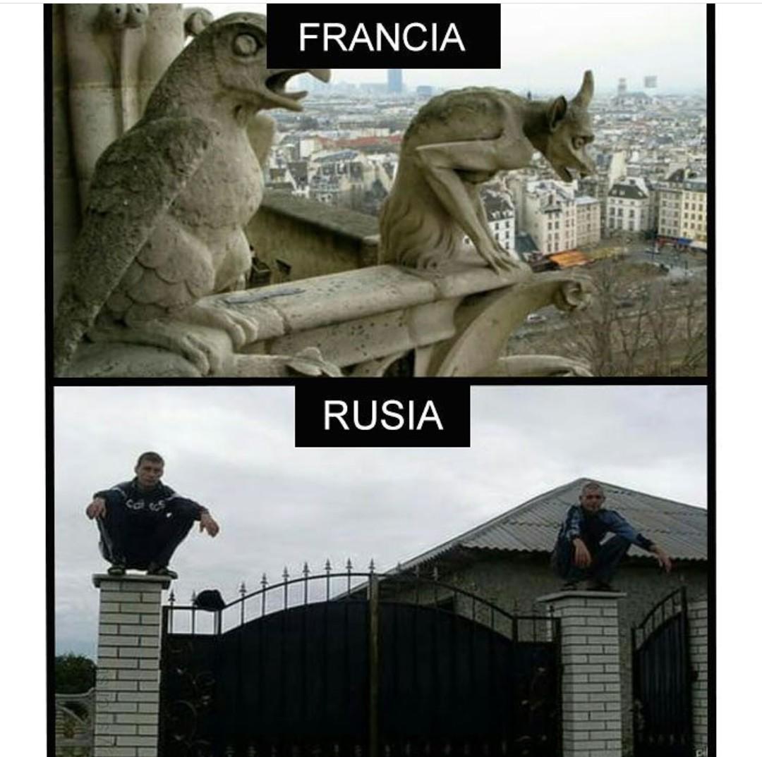 Russia sigue siendo terreno desconocido - meme