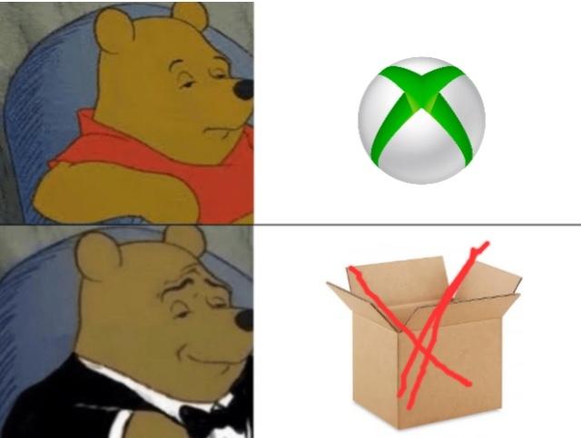 la verdadera Xbox - meme