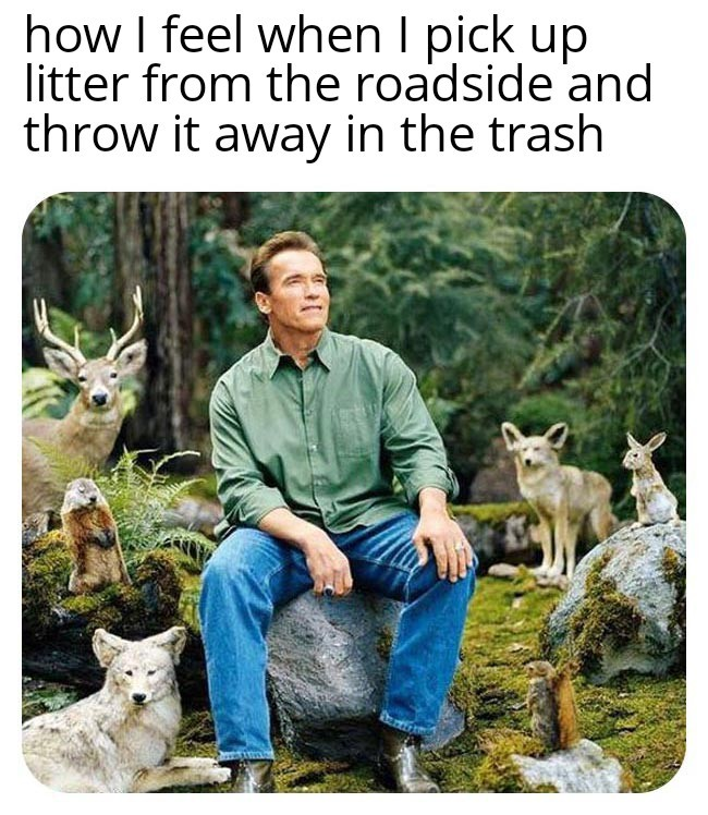 Pick up your trash, and any trash you see, including me lol - meme