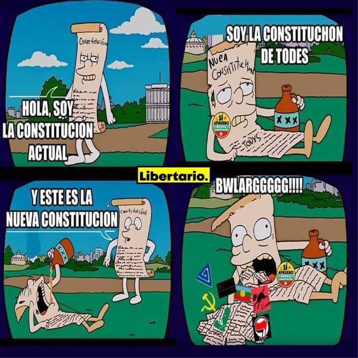 Nueva Constitución Chilena - meme