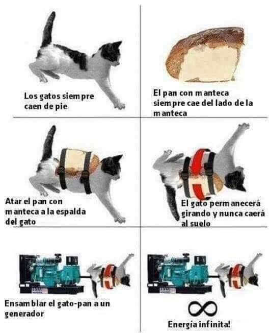 Energía infinita - meme