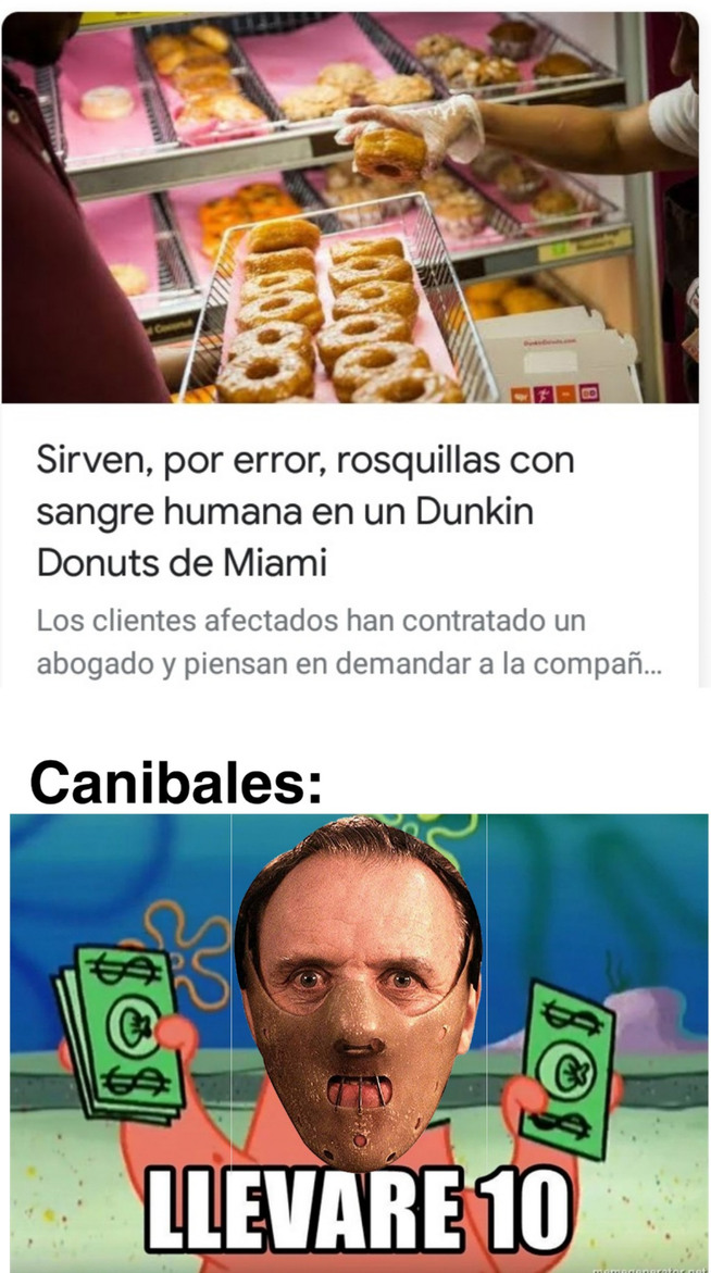 No comas humanos - meme