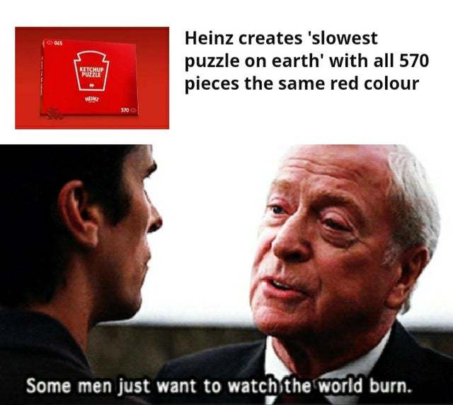 Heinz creates slowest puzzle on earth with all 570 pieces the same red colour - meme