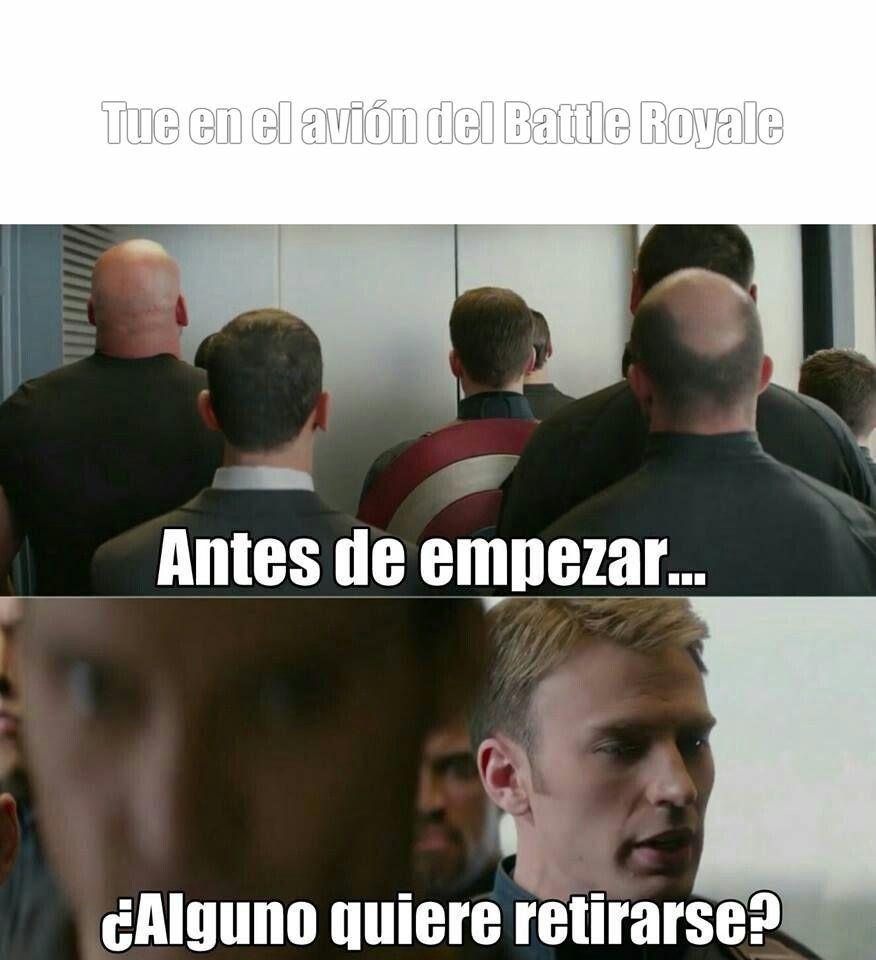Retirarse en Battle Royale - meme