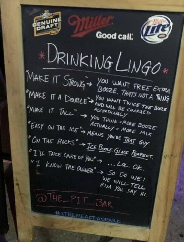 The commandment of the bar. - meme