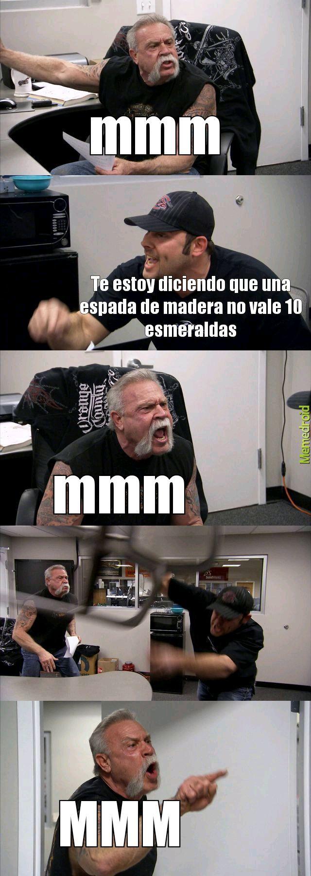 Aldeano Garca - meme