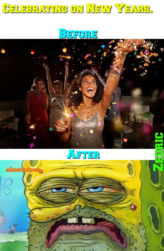 Dank meme on the new year.