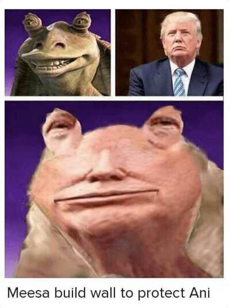 Jar Jar Trump - meme