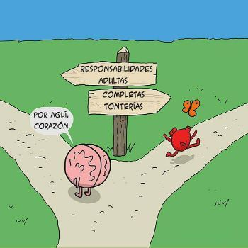 De que lado estas, cerebro o corazón? - meme
