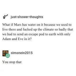 What if Mars has water? - meme