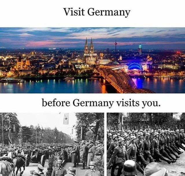 Visit Germany before Germany visits you - meme