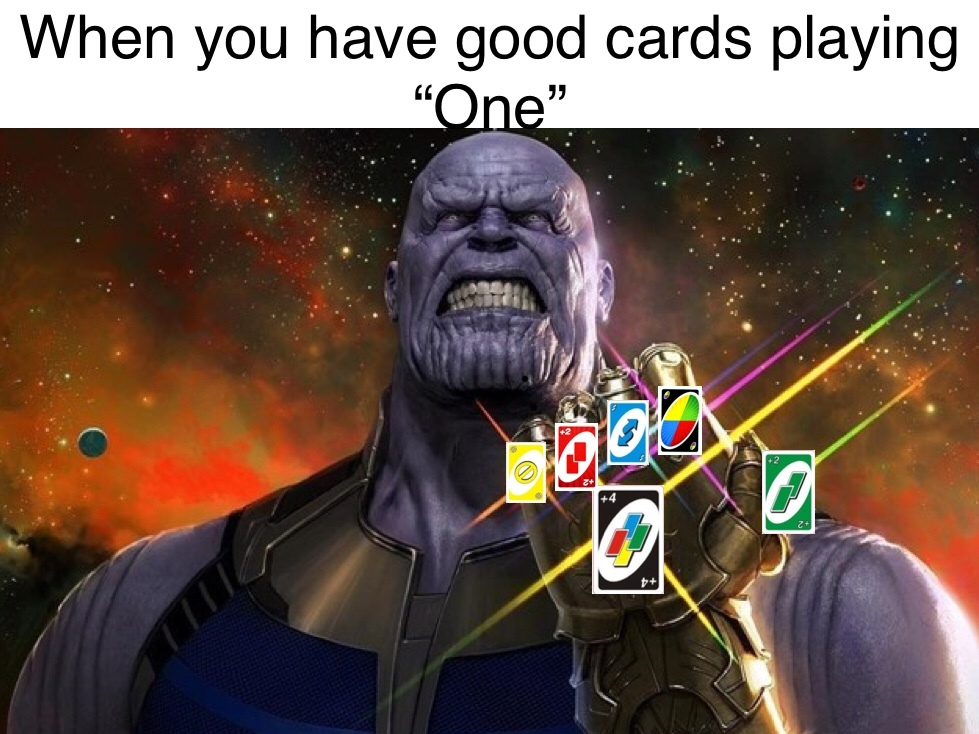 The infinite cards - meme