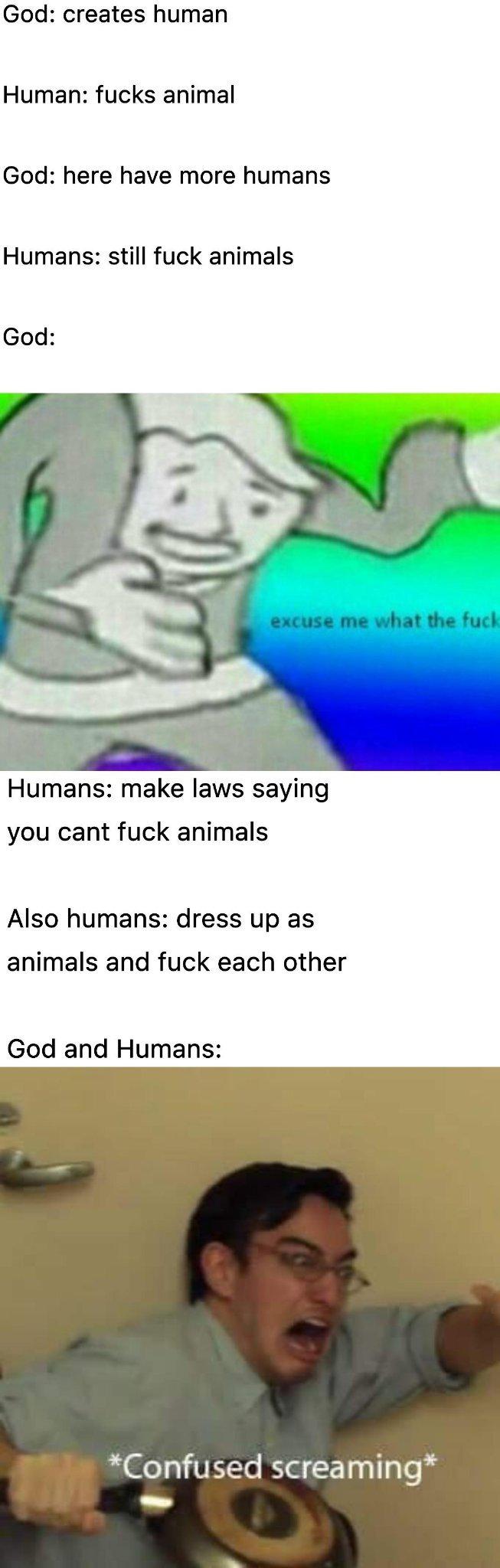 Animal orgy - meme