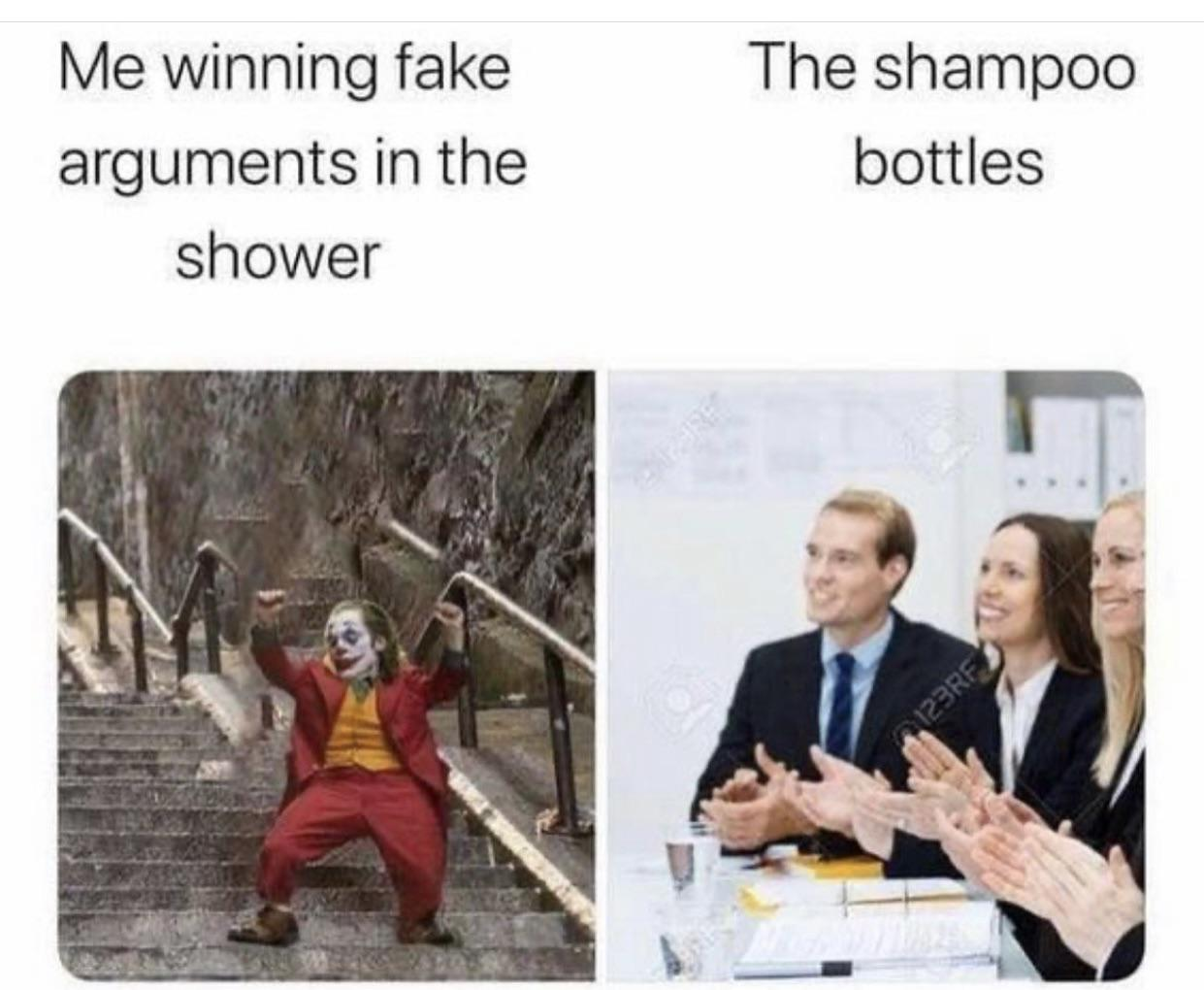 what people do in showers - meme