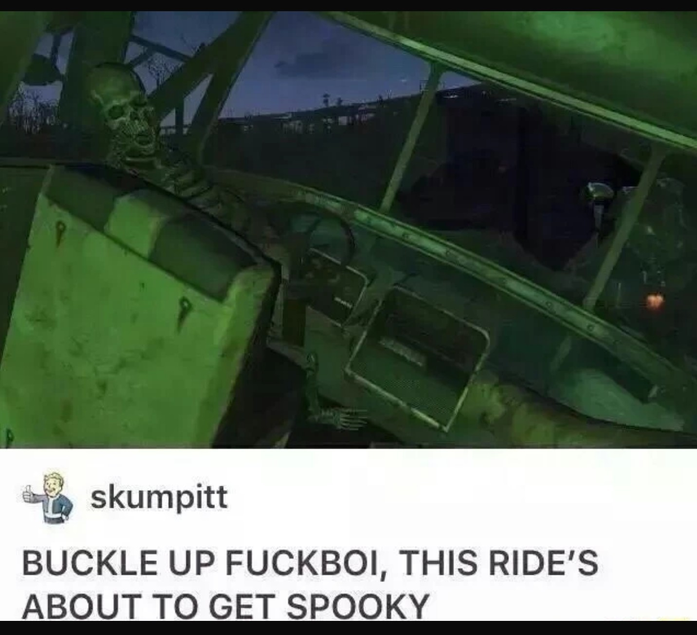 Buckle up - meme