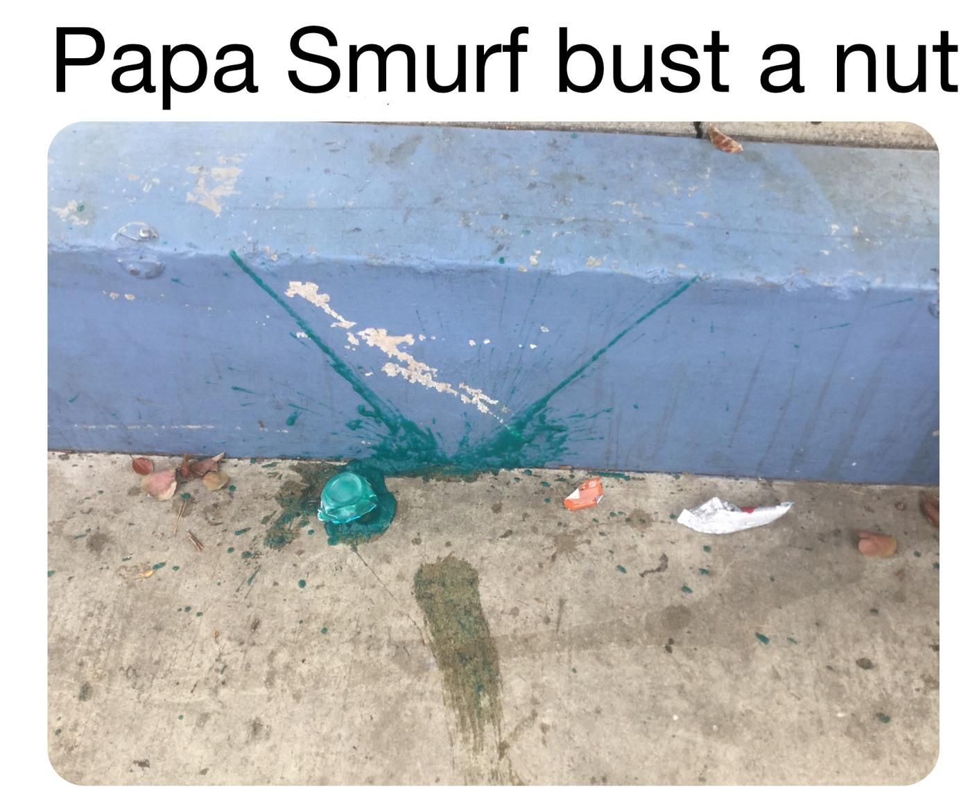 Blue nut - meme