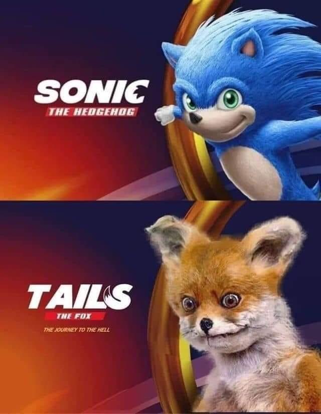well kinda looks like tails  - meme