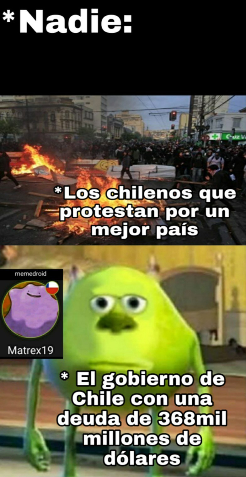 Estado de emergencia en Chile - meme