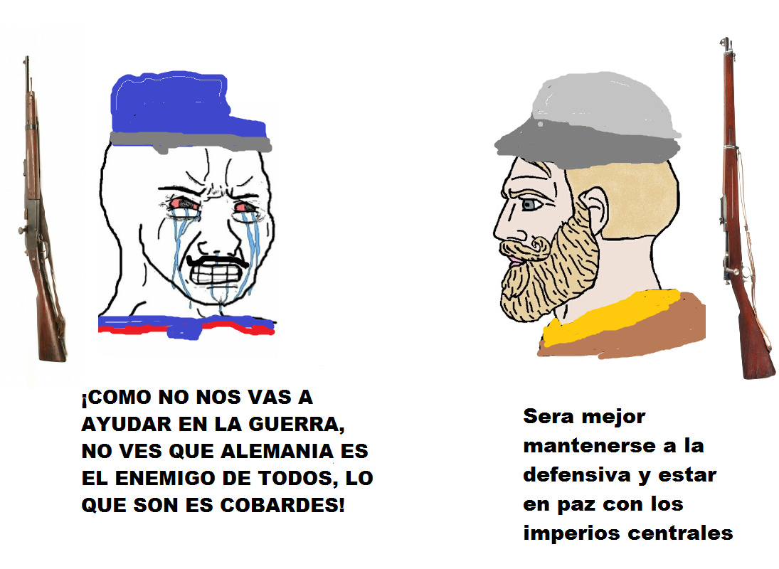 The chad estados unidos vs the virgin Francia - meme