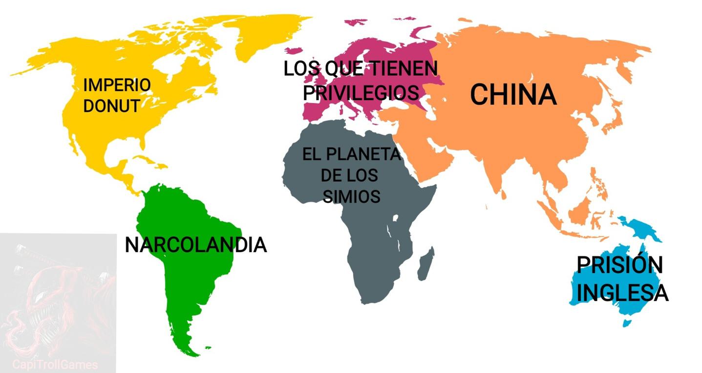 EL MAPA DEL MUNDO - meme