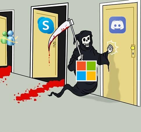 Microsoft quiere comprar discord. - meme