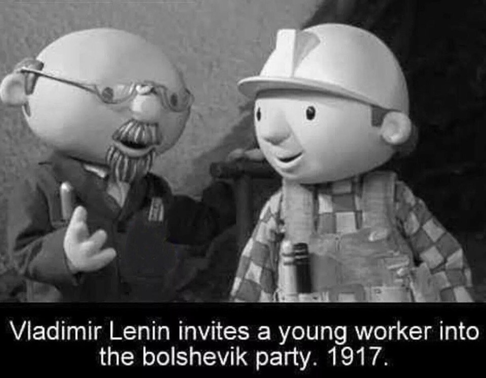 Lenin is strong - meme