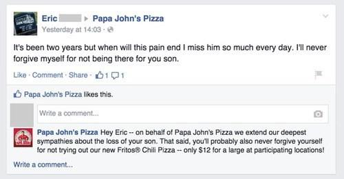 Our deepest dish condolences - meme