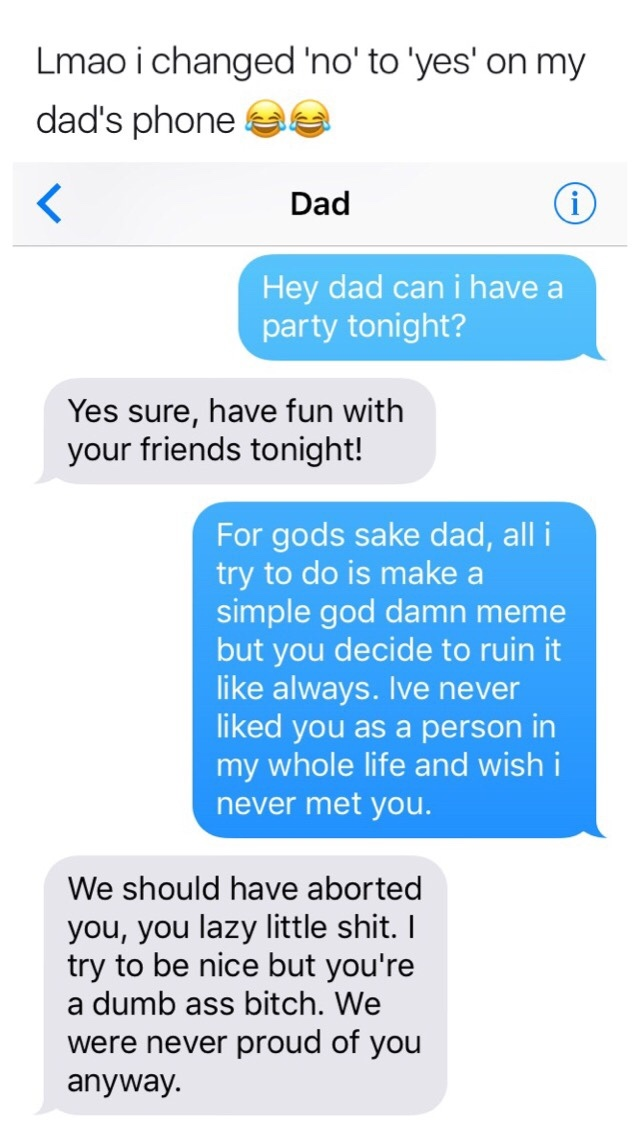 Haha nice one Dad - meme