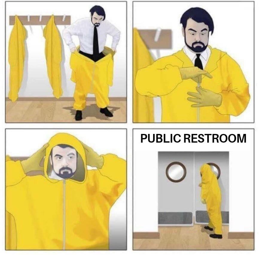 U better flush - meme