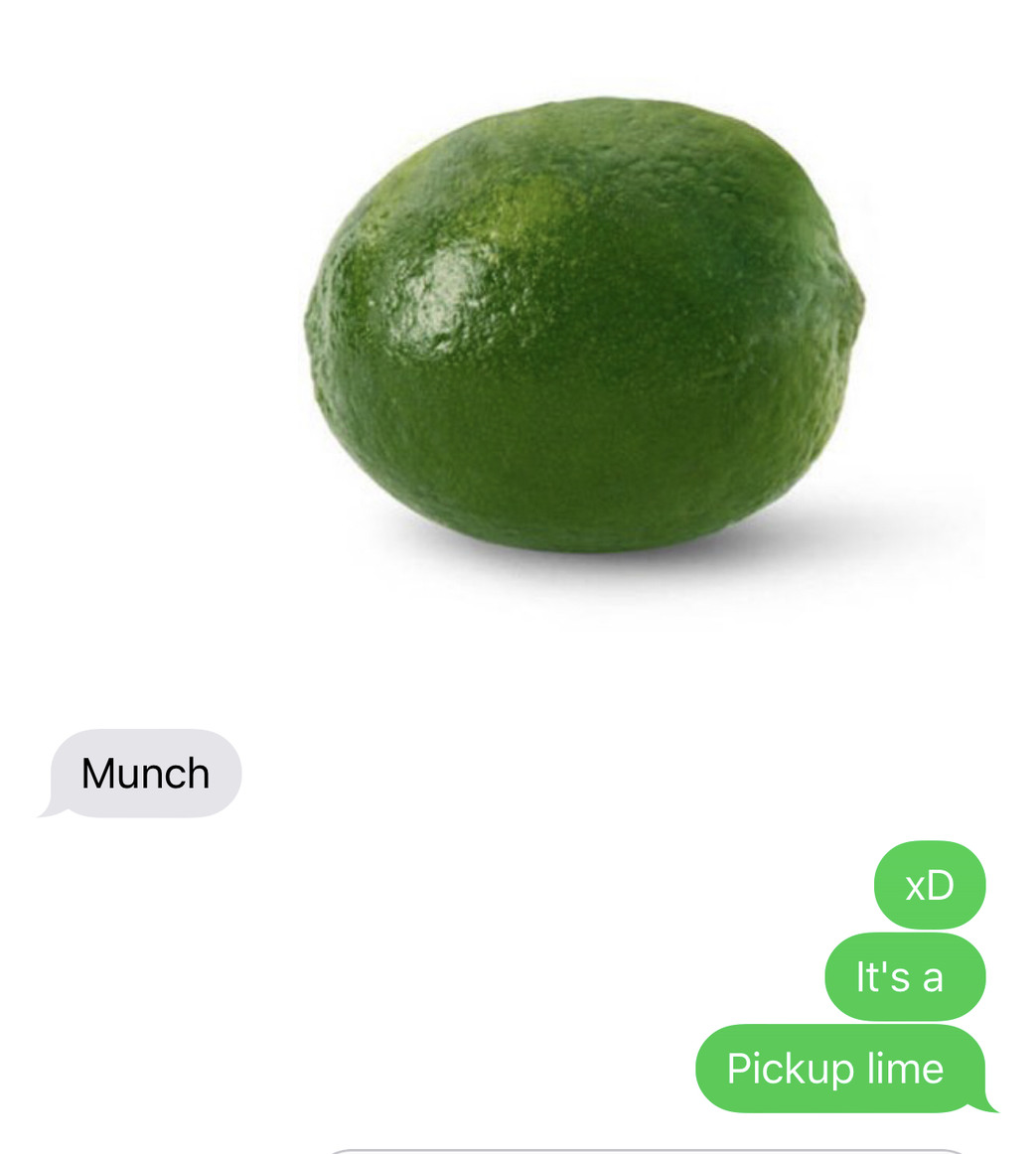 It's a pickup lime - meme