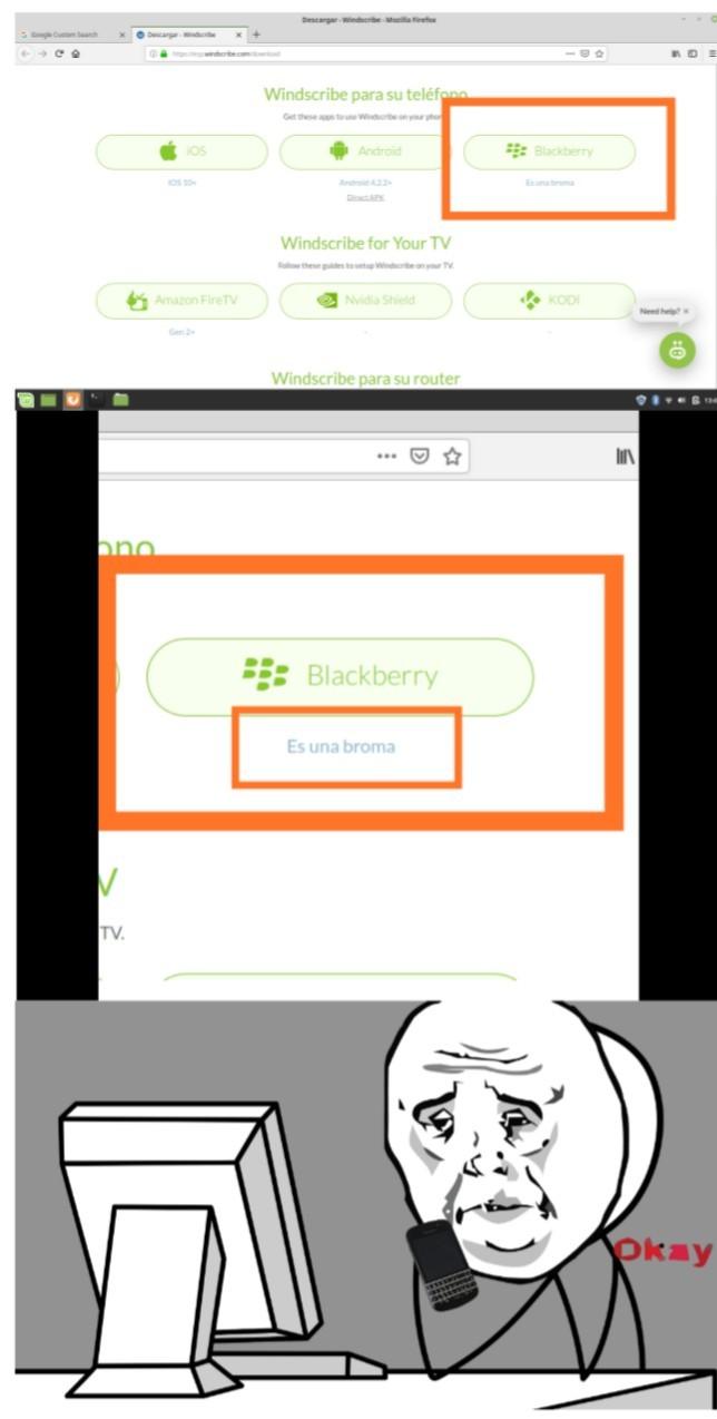 Que weones los de Windscribe (buen VPN) - meme