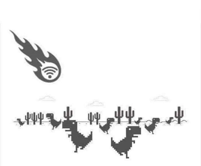 The extinction of dinosaurs - meme