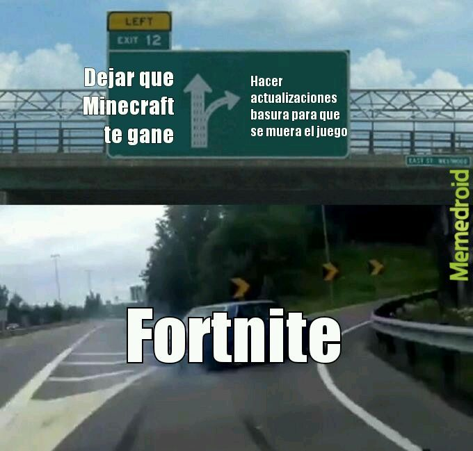 Minecraft Bueno, Fortnite malo - meme