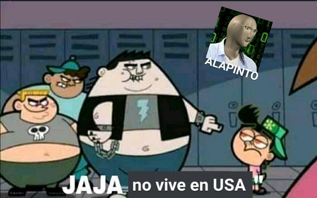 USA=EEUU=ESTADOS UNIDOS ALAPINTO© Hecho en Celular - meme