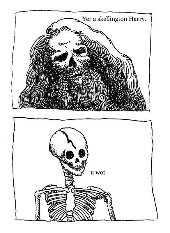Skelly Potter and the Chamber of Spoopy - meme
