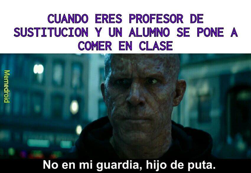 Noooo profesor - meme