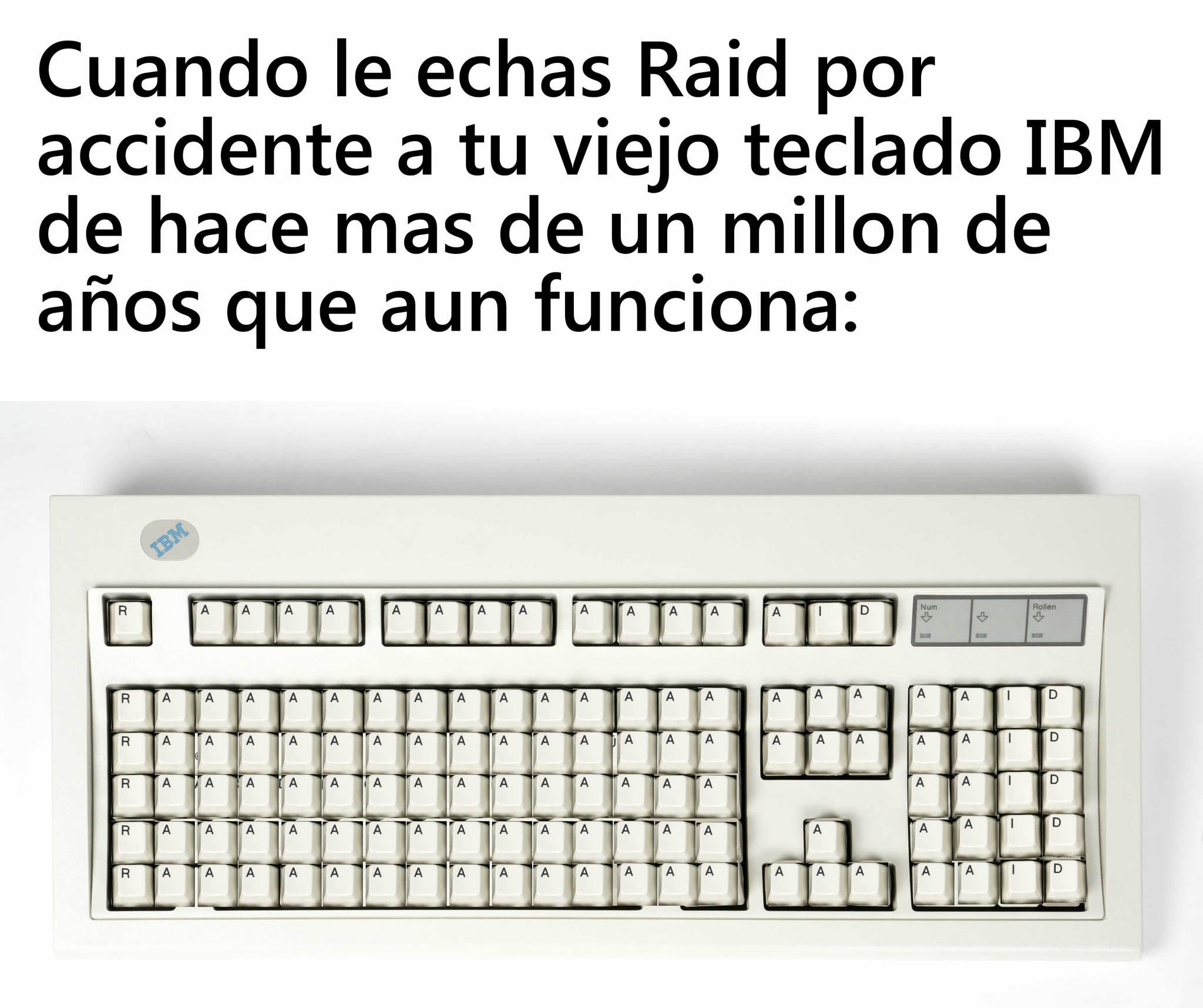 Mi primer meme del teclado IBM