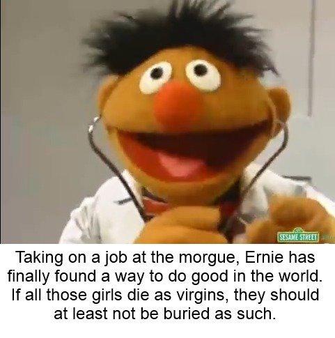 Ernie, thinking ahead - meme