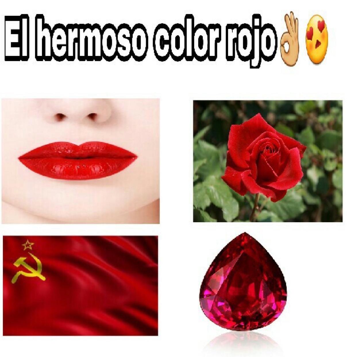 el rojo es hermoso - meme