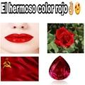 el rojo es hermoso